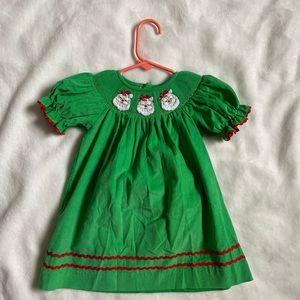Mom & Me smocked Santa dress
